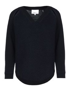 3.1 PHILLIP LIM No appliqués Lightweight sweater Solid color V-neckline 3/4 length sleeves Knitted not made of fur 3/4 length sleeves
