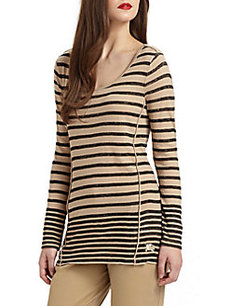 Burberry Mottled Striped Top