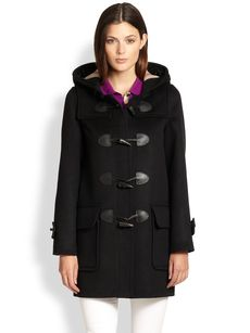 Burberry Brit Wool Toggle Duffle Coat
