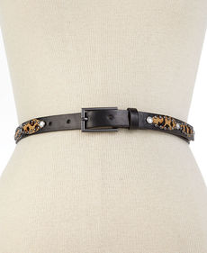 Steve Madden Haircalf with Studs & Stones Belt