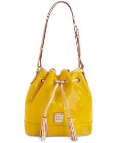 Dooney & Bourke Patent Drawstring Hobo