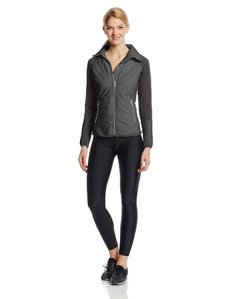Calvin Klein Performance Women's Hi-Tech Quilted Jacket with Knit Sleeves