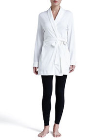 Rose Wrap-Front Jacket, Off White   Rose Wrap-Front Jacket, Off White