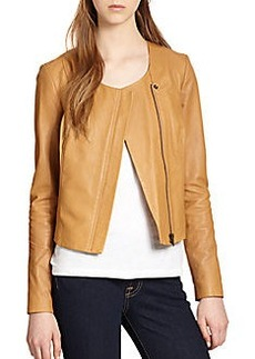 Joie Emelyn Back Peplum Leather Jacket