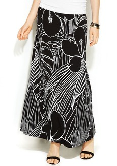 Alfani Tropical-Print Maxi Skirt