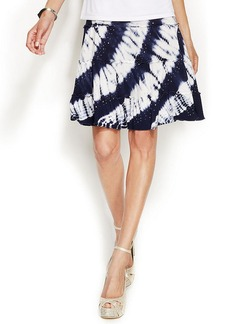 INC International Concepts Petite A-Line Tiered Tie-Dye Skirt
