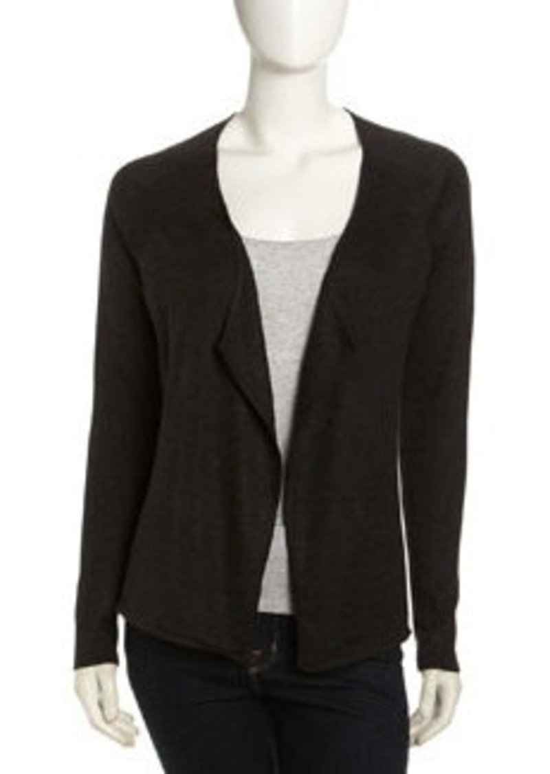 Isda & Co Open-Front Cardigan, Charcoal