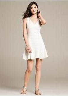 Textured Drop-Waist Dress