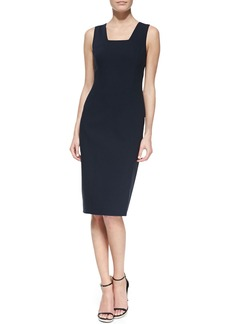 Michael Kors Double-Face Stretch Sheath Dress, Midnight