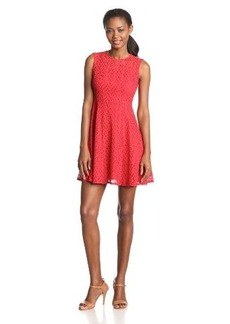 Nanette Lepore Women's Fool For Love Lace Sleeveless Fit-and-Flare Dress