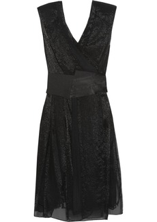 Donna Karan Silk-blend chiffon wrap dress
