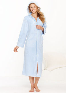 Charter Club Supersoft Long Zip Hoodie Robe