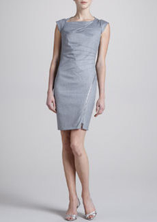 Laundry by Shelli Segal Folded Metallic Dress