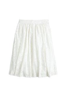 Patio skirt in burnout linen