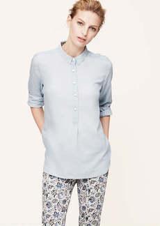 Petite Pale Chambray Softened Shirt