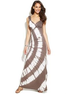 INC International Concepts Tie-Dye Empire-Waist Maxi Dress