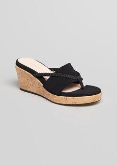 Taryn Rose Platform Wedge Thong Sandals - Keely