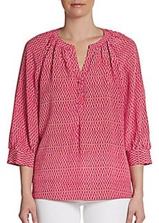 Joie Izzy Printed Silk Blouse
