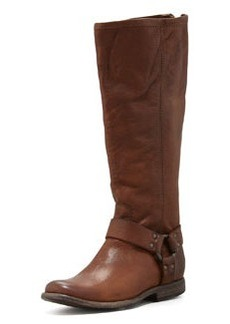 Frye Philip Harness Extended Boot, Cognac