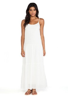 Velvet by Graham & Spencer Delize Sheer Jersey Dress in White