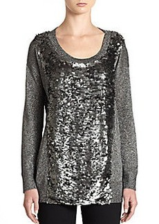 French Connection Sequin-Panel Sweater