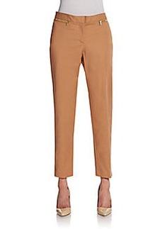 Ellen Tracy Slim Stretch-Cotton Pants