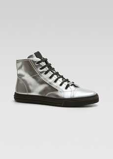 Gucci California Metallic Leather High Top Sneaker
