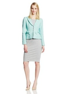 Nanette Lepore Women's Lost In Love Tweed Bow Pocket Jacket