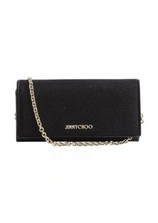 Jimmy Choo black glitter 'Nikita' convertible wallet