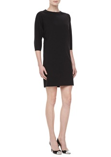Michael Kors Double-Faced Shift Dress, Black
