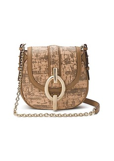 Sutra Mini Cork Leather Crossbody Bag
