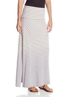 Calvin Klein Performance Women's Foldover Waist Dip Dye Stripe Maxi Skirt