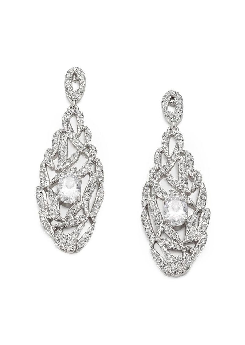 Adriana Orsini Pave Crystal Drop Earrings