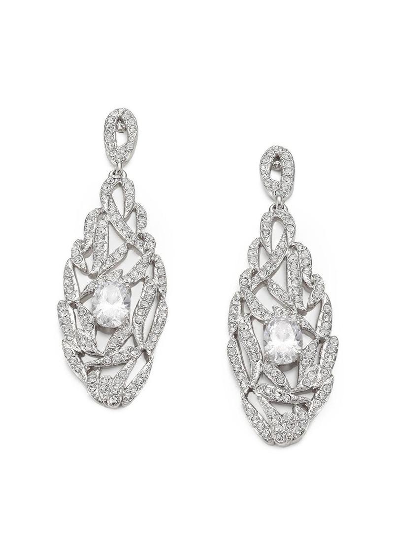 Adriana Orsini Pave Crystal Drop Earrings