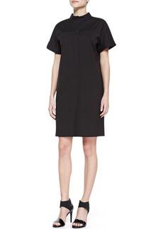 Lafayette 148 New York Stretch-Cotton Short-Sleeve Shirtdress