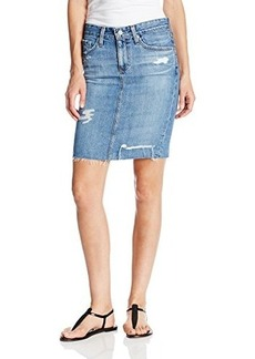 AG Adriano Goldschmied Women's Erin Denim Pencil Skirt In 16 Year Ascension