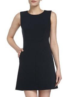 Diane von Furstenberg Capreena Ponte Mini Dress, Navy