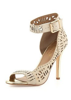 Nicole Miller Bali Cutout Suede d'Orsay, Ivory