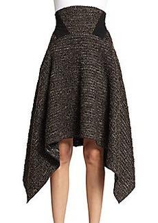 Donna Karan High Waisted Poncho Skirt