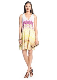 Fay Printed Cotton Tier Dress
