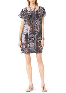 Snake-Print Coverup Dress   Snake-Print Coverup Dress
