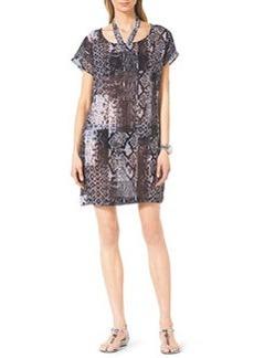 Snake-Print Coverup Dress   Snake-Print Coverup Dress
