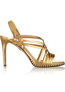 Diane von Furstenberg Sandy metallic leather sandals