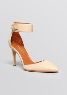 Via Spiga Pointed Toe Ankle Strap Pumps - Idabelle High Heel