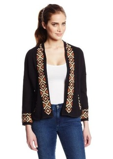 Lucky Brand Women's Embroidered Shrug Sweatshirt