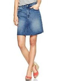 1969 high-rise denim skirt