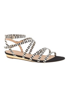 Emmaline printed mini-wedge sandals