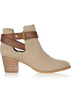 12th Street by Cynthia Vincent Mailea canvas ankle boots