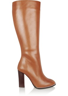 Chloé Leather knee boots