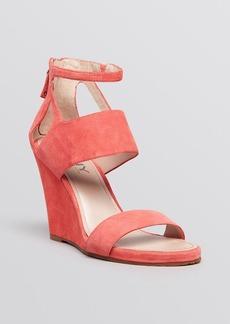 DKNY Open Toe Wedge Sandals - Hara